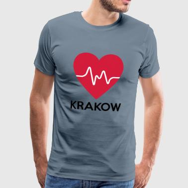 coeur de Cracovie - T-shirt Premium Homme