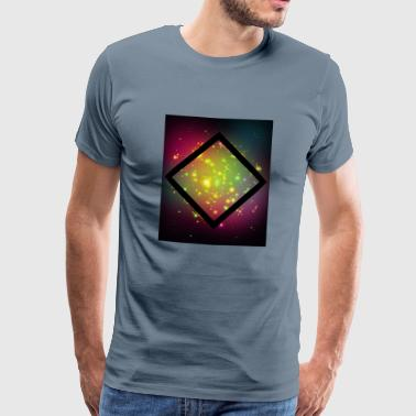 Rectangle Rhombus, galaxy, rectangle, hipster, triangle - Men's Premium T-Shirt