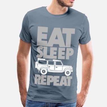 Rover Eat Sleep Defender Repeat - Männer Premium T-Shirt