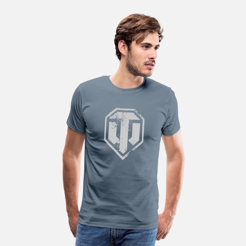 World Of Tanks Camisetas - World of Tanks Logo - Camiseta premium hombre gris azulado