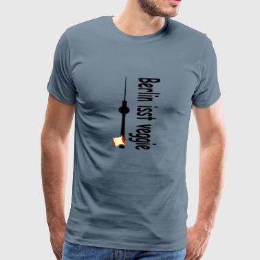 Berlin is eating veggie, gift - Men's Premium T-Shirt