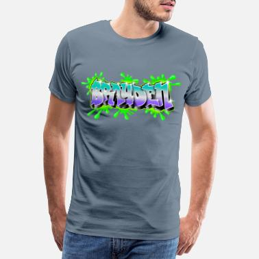 Graffitis Brayden Graffiti Name - Men's Premium T-Shirt