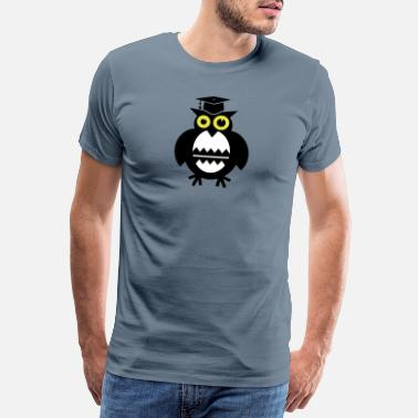 Candidate sleepless owl with mortarboard - gift promotion - Men's Premium T-Shirt