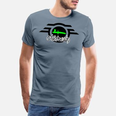 Airbrush Airbrush logo with lettering - Men's Premium T-Shirt