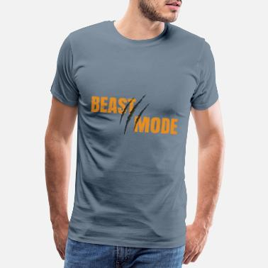 Krachttraining Beast Mode - Fitness Gym Design - Mannen premium T-shirt