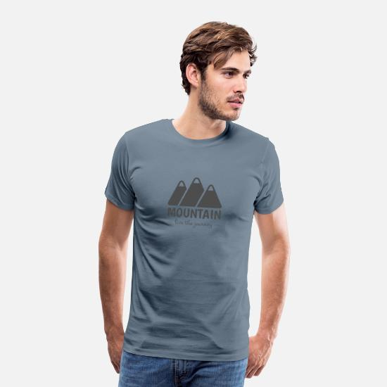 Camping T-shirts - T-shirt Premium Homme Montagne - T-shirt premium Homme gris bleu