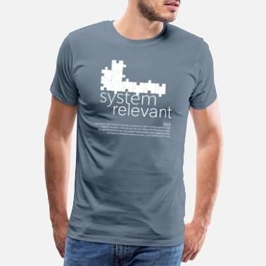 System system relevant puzzle weiss - Männer Premium T-Shirt