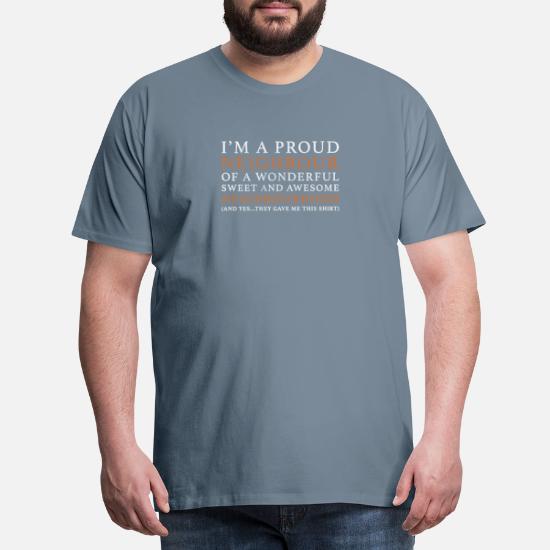 Origineel Cadeau Voor Je Buren Mannen Premium T Shirt