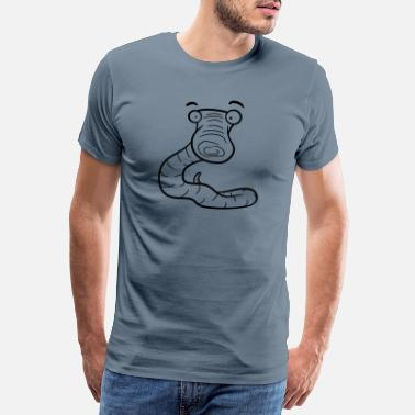 Fun more fun, more skeptical scared worm - Men's Premium T-Shirt