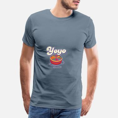 Feeling 70's Yoyo Colorful Retro Vintage - Men's Premium T-Shirt