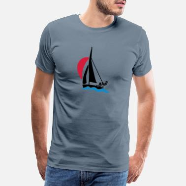Sail Race Racing boat under spinnaker - Men's Premium T-Shirt