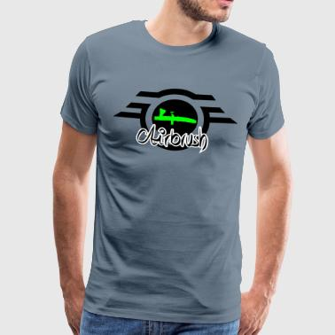 Airbrush logo with lettering - Men's Premium T-Shirt