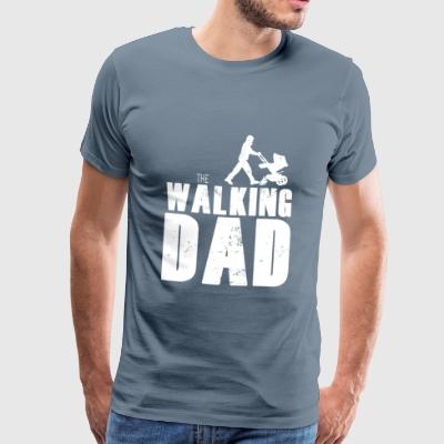 Walking pappa - Premium-T-shirt herr