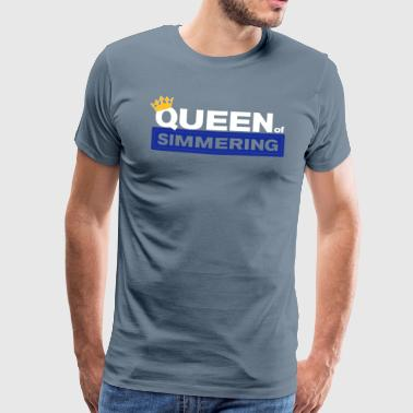Queen of Simmering - Premium-T-shirt herr