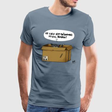 Cat in a carton - Men's Premium T-Shirt