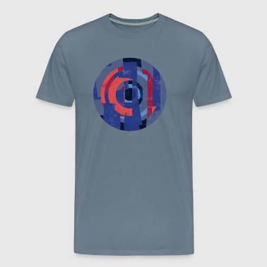 Circle design abstract colour 005 - Mannen Premium T-shirt