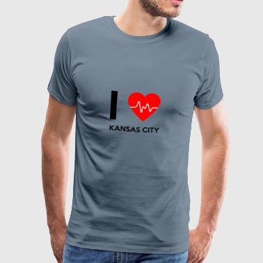 I Love Kansas City - Ich liebe Kansas City - Männer Premium T-Shirt