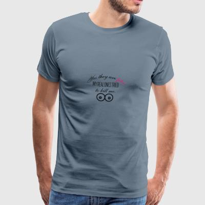 Yes those boobs are fake - Männer Premium T-Shirt