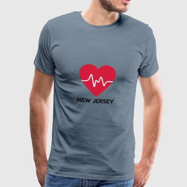 Heart New Jersey - Herre premium T-shirt