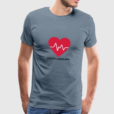 Heart South Carolina - Herre premium T-shirt