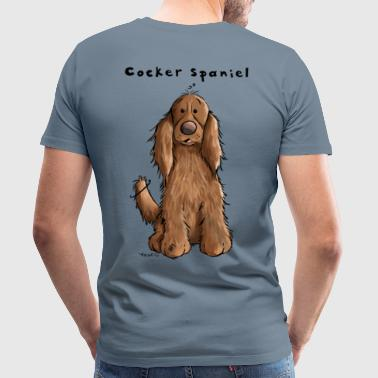 Funny Cocker Spaniel - Men's Premium T-Shirt