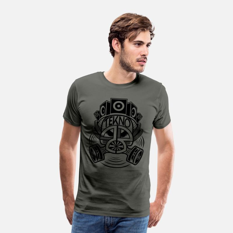 Gas Mask T-Shirts - Tekno 23 gas mask - Men's Premium T-Shirt asphalt