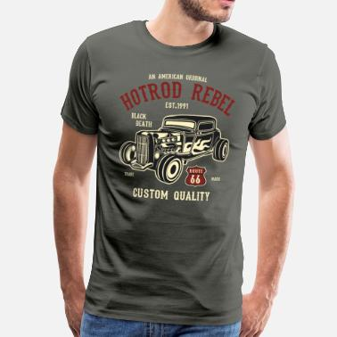 Rebel Hot Rod Rebel-1 - Männer Premium T-Shirt