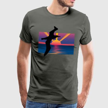 mighty albatross before sunset - Men's Premium T-Shirt