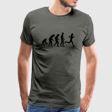 Human Evolution Running - Männer Premium T-Shirt