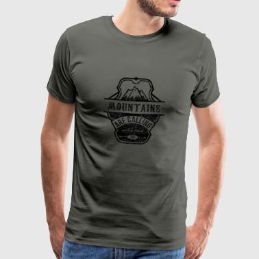 mountains are calling - schwarz - Männer Premium T-Shirt