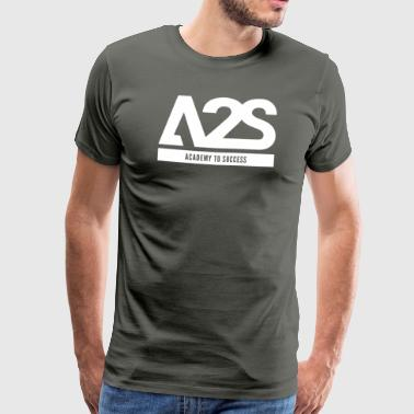 A2S Logo white ACADEMY TO SUCCESS - Mannen Premium T-shirt