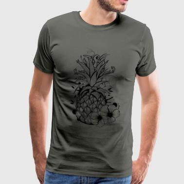 Pineapple with hibiscus blossom - Men's Premium T-Shirt