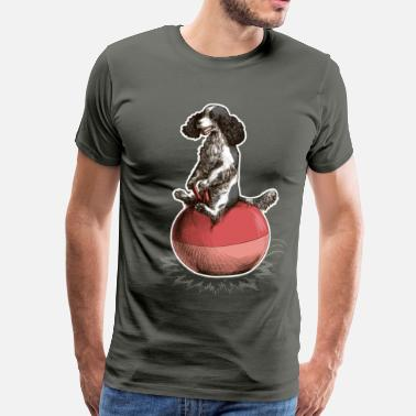 Spacehopper Cocker Spaniel Dark - Men's Premium T-Shirt