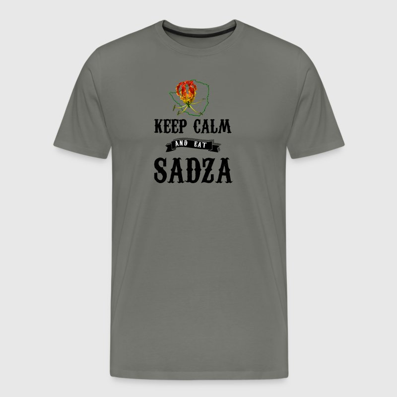Rhodesia Keep Calm and eat Sadza - Men's Premium T-Shirt