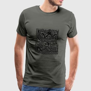 Viking Hunter antique pattern - Men's Premium T-Shirt