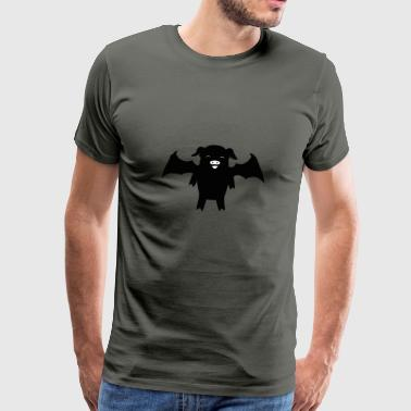 Pig as bat halloween carnival - Men's Premium T-Shirt
