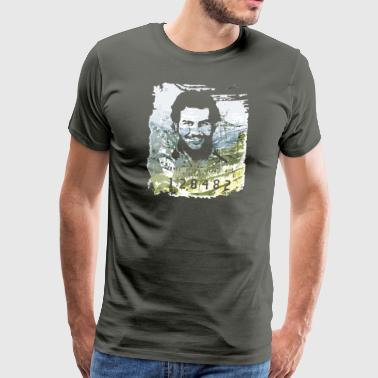 Pablo Escobar distressed - Men's Premium T-Shirt