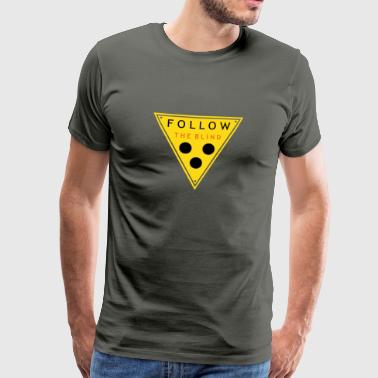 follow the blind v3 de - Männer Premium T-Shirt