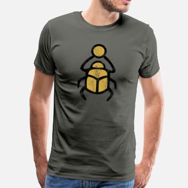 Ancient Egypt Vintage Scarab Sun Lucky Charm Egypt - Men's Premium T-Shirt