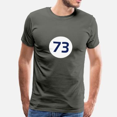 Sudoku 73 the best number BIG BANG Freak Theorie These - Männer Premium T-Shirt