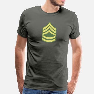 Rang Namn Military Uniform US Army Sergeant First Class - Premium-T-shirt herr