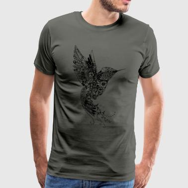 Grand colibri de conception - T-shirt Premium Homme