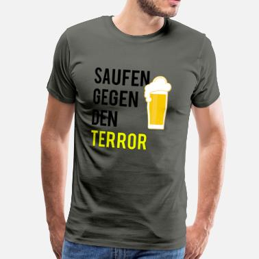 Antifascistische Drinken on terror - Mannen Premium T-shirt