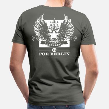 Beidseitig Bedruckt B for Berlin – Graffiti – Männer Kapuzenpullo - Männer  Premium T-Shirt 5c7ab42013