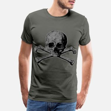 Ghoulish Skull bone head icon gift idea - Men's Premium T-Shirt