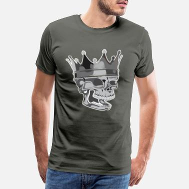 Devil Witch Skull With Crown | King King bone gift - Men's Premium T-Shirt