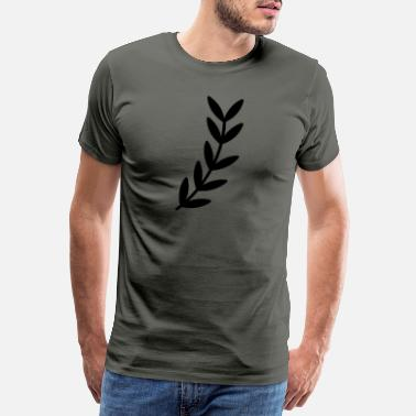Leaf Branch branch leaf leaves plant nature shrub branches - Men's Premium T-Shirt