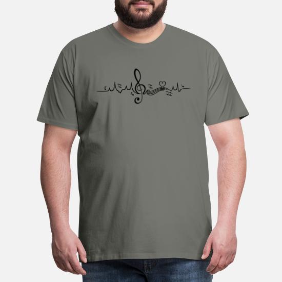 Hjertebanken, kærlighed til musik. Premium T shirt mænd