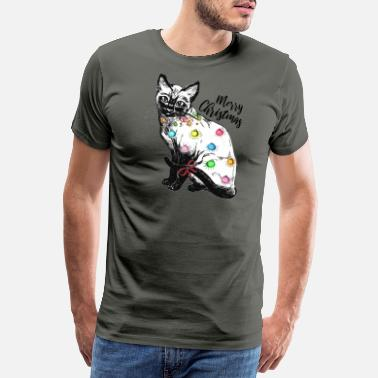 Heraldic Xmas cat - Christmas with a difference - Christmas - Men's Premium T-Shirt