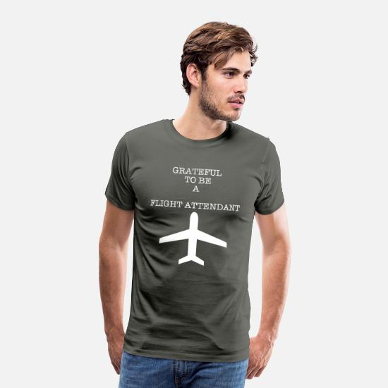 Gift Idea T-Shirts - STEWARDESS - Men's Premium T-Shirt asphalt